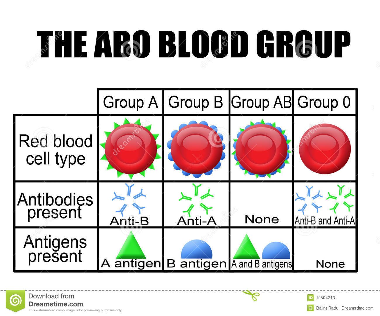 The ABO Blood Group Diagram Stock Photos - Image: 19504213