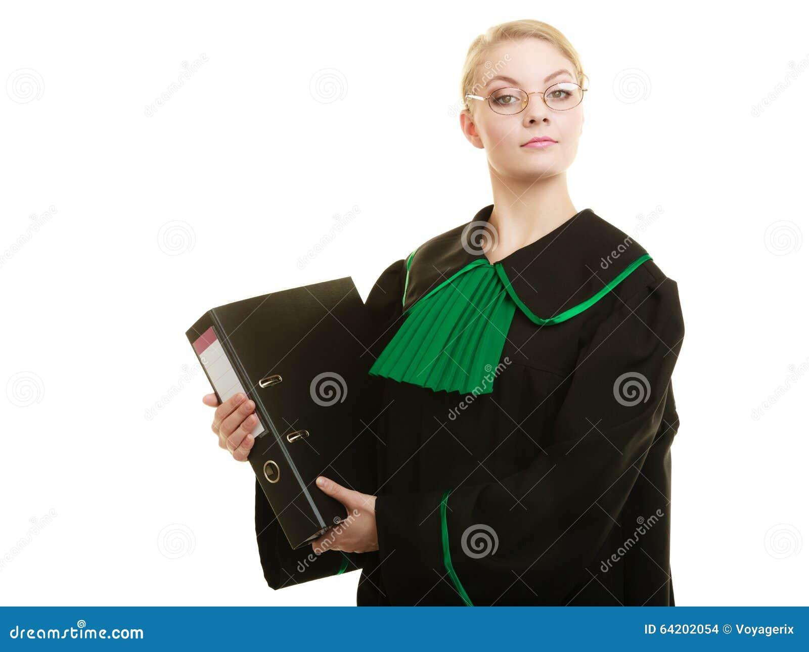 Abogado de la mujer con la carpeta de archivos o el expediente