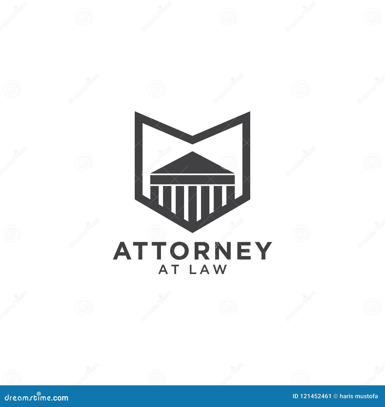 Abogado en la plantilla del logotipo de la ley
