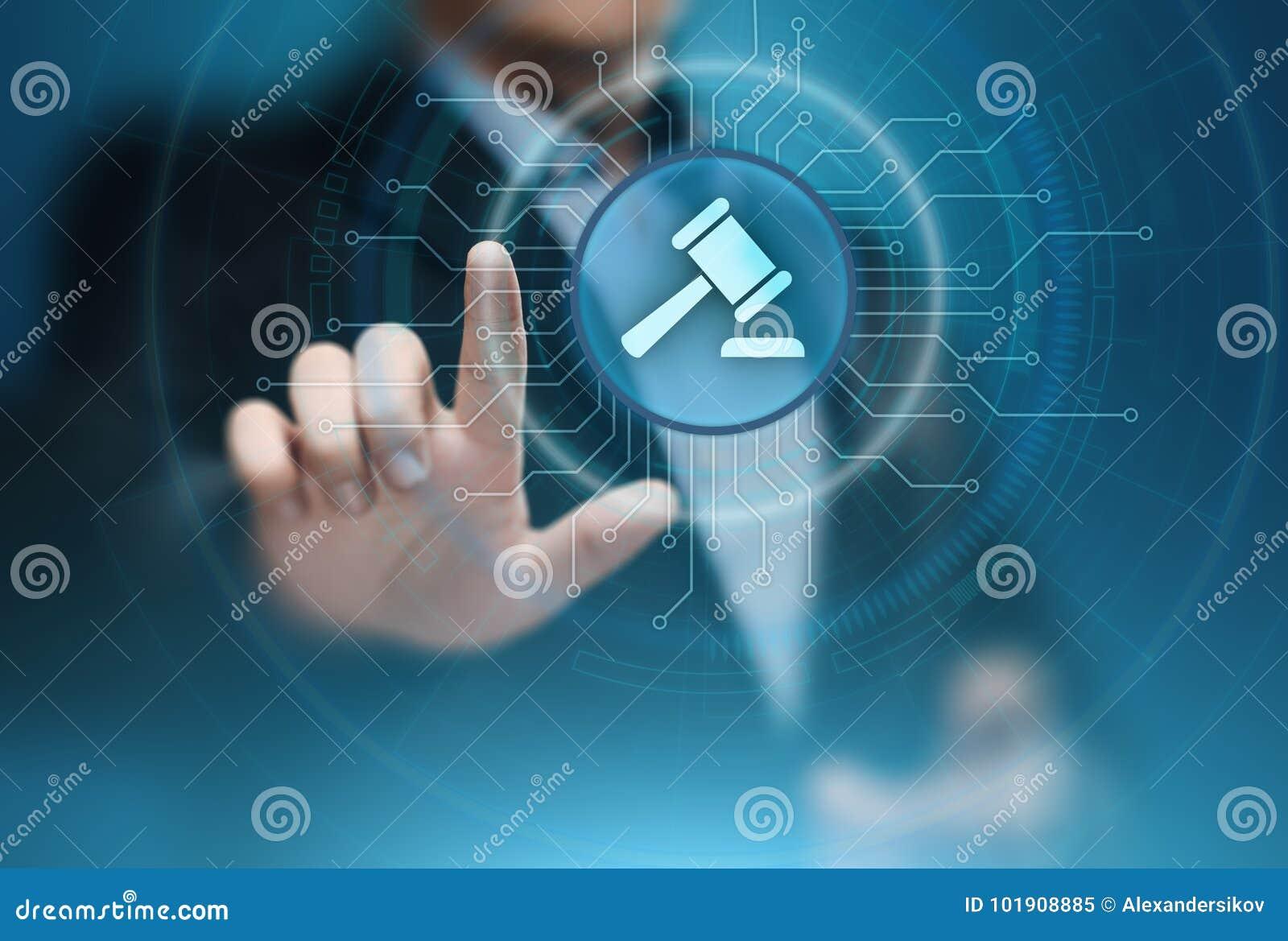 Abogado en la tecnología de Internet de la subasta de Business Legal Lawyer de la ley