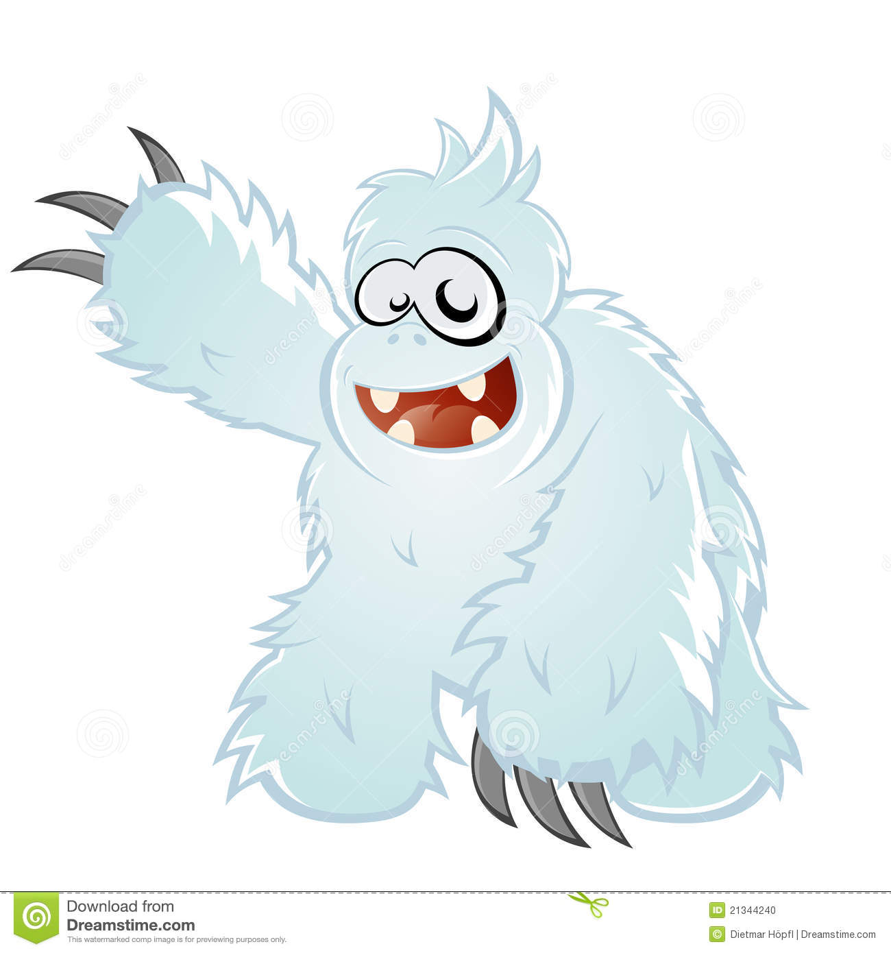 Clipart of a Cartoon Yeti Abominable Snowman Wearing ...