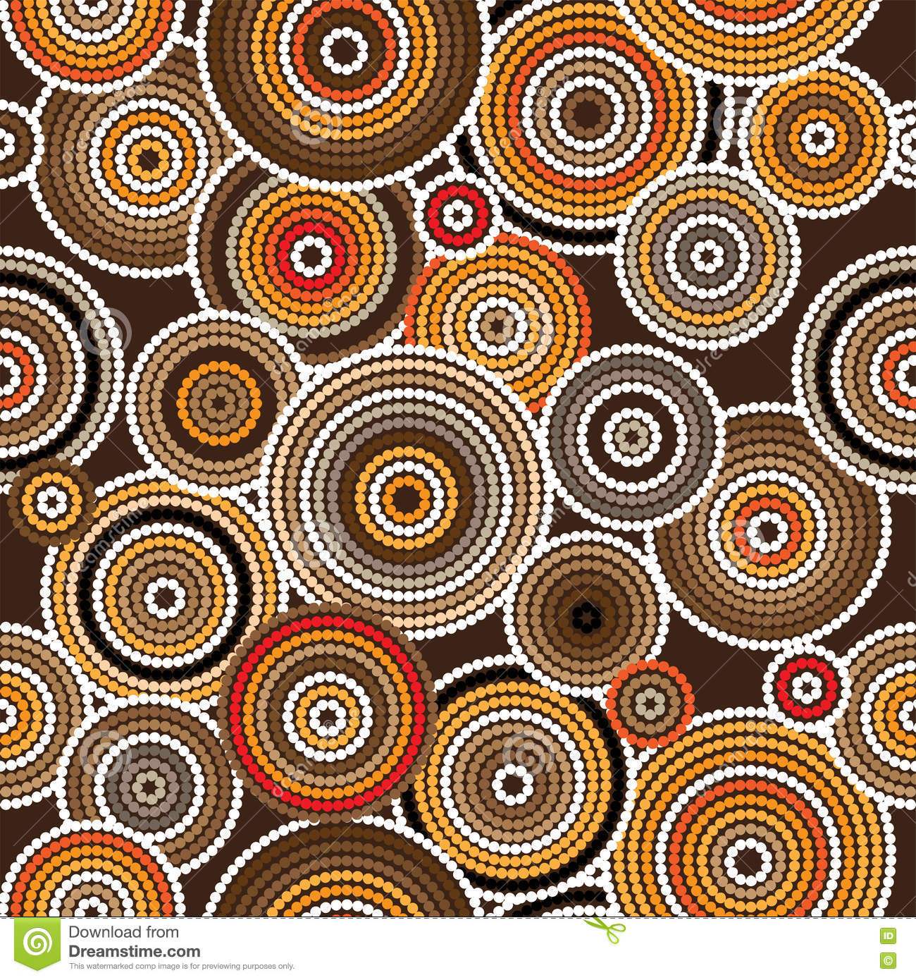 Aboriginal art vector seamless background stock vector image aboriginal art vector seamless background toneelgroepblik Image collections