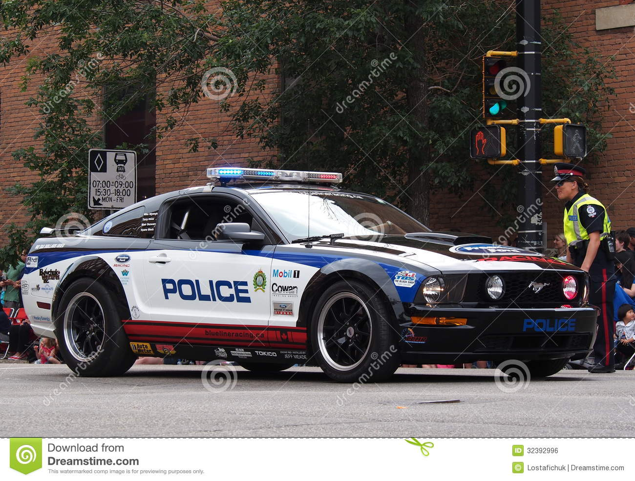 Edmonton Police Department Racing Car In K Days Pa Editorial Photo