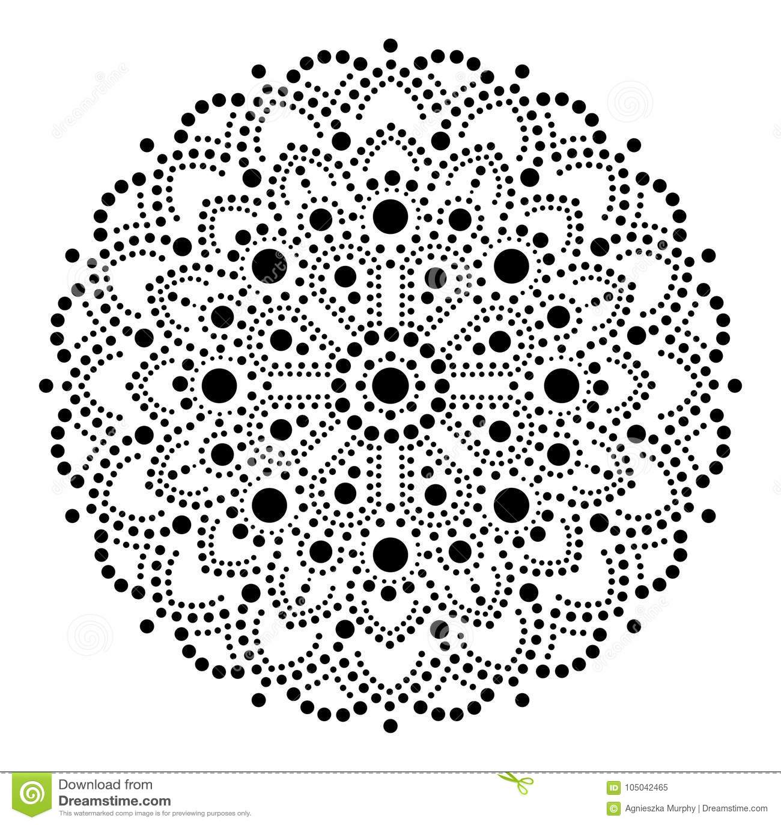 Aboriginal Dot Painting Mandala Australian Ethnic Design Gypsy