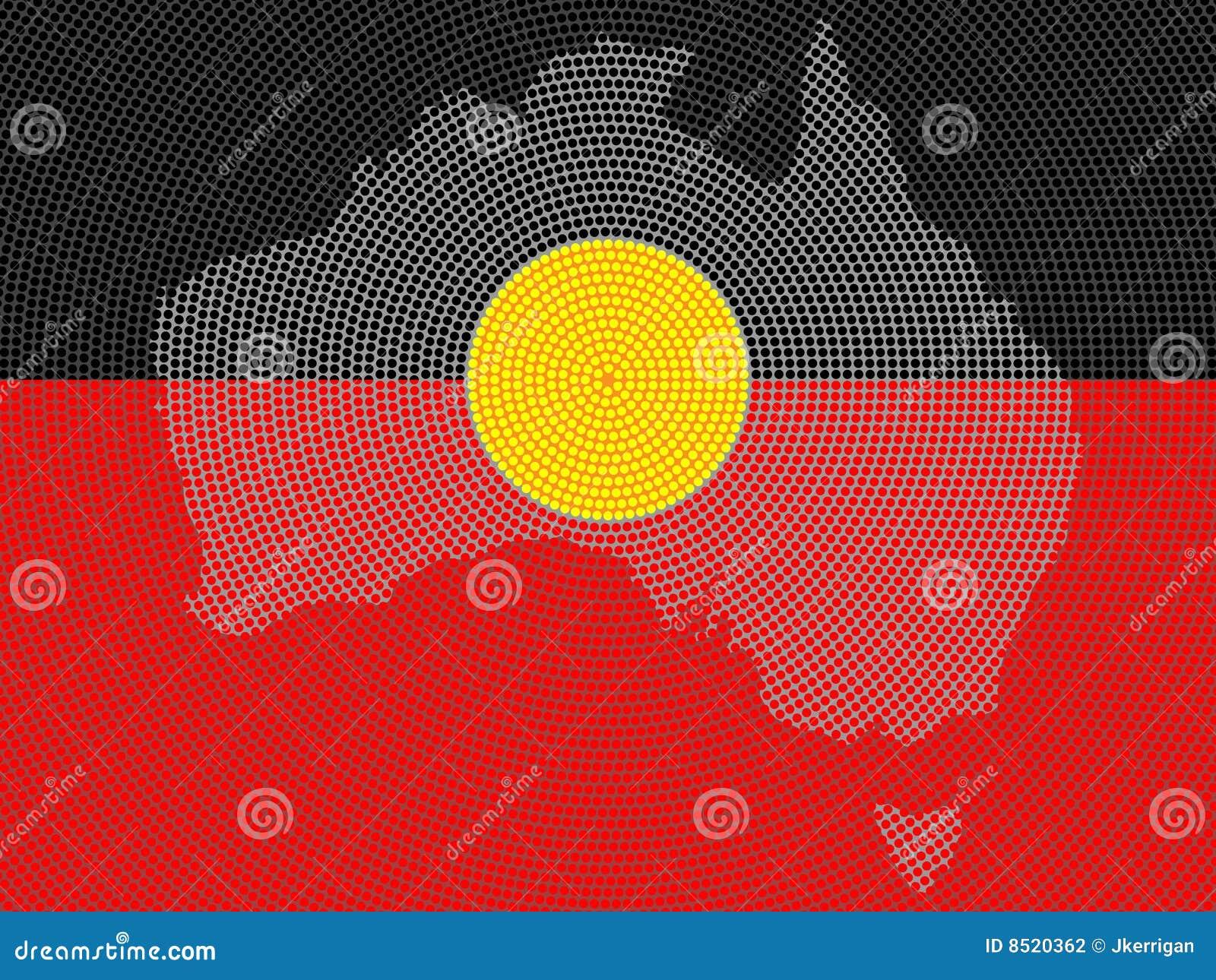 Aboriginal Flag Design Stock Vector Illustration Of Country 8520362