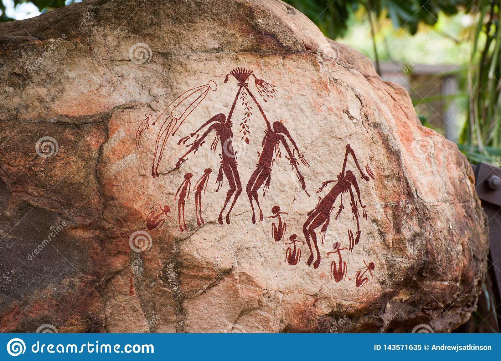 Aboriginal rock art in Australia`s Kimberley region