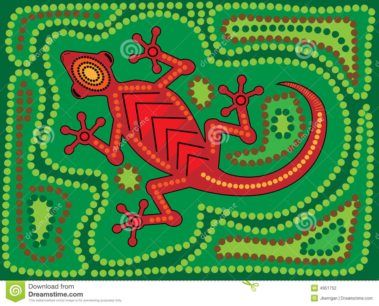Aboriginal Lizard stock vector