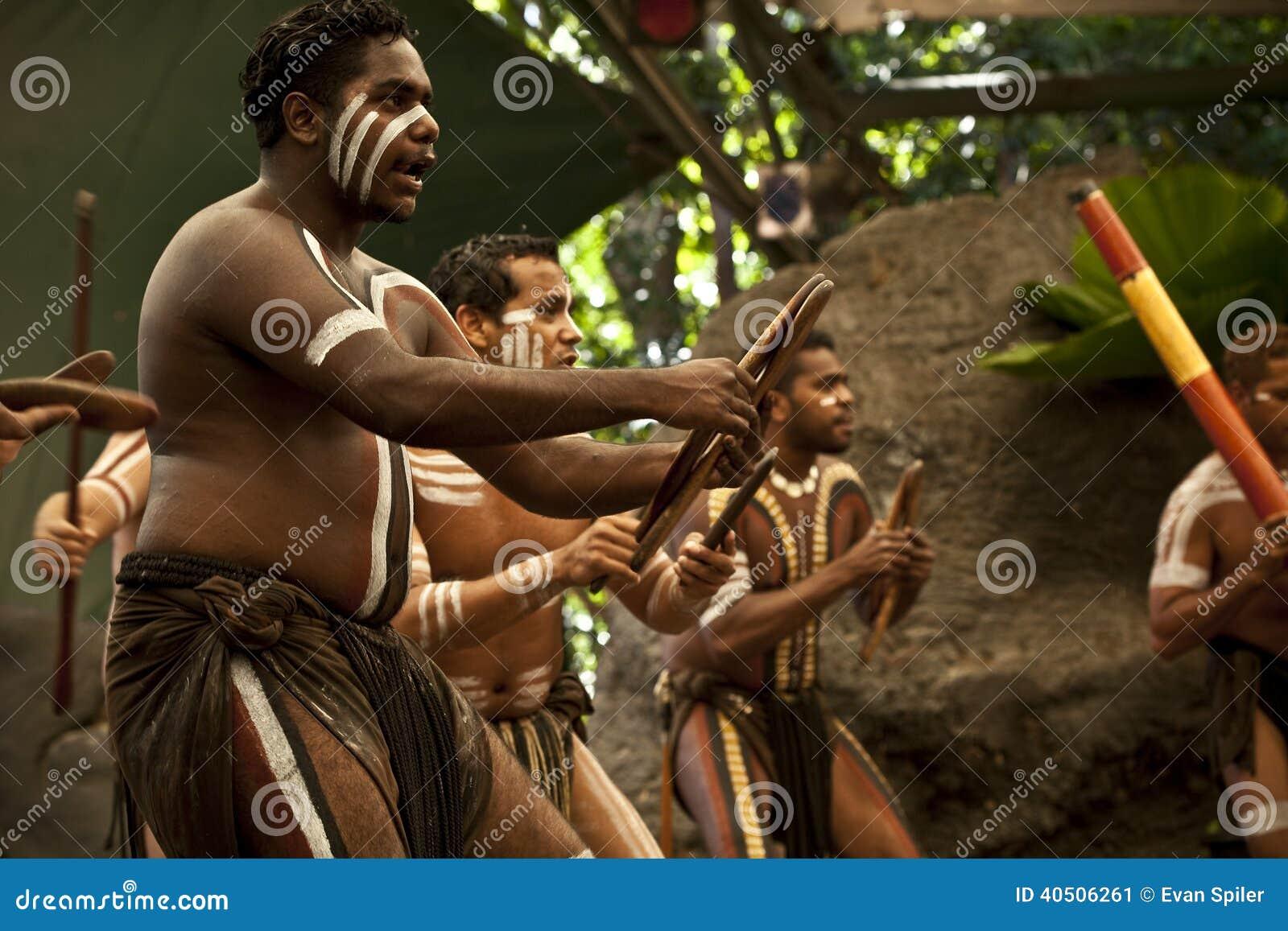Aborigines actors at a performance