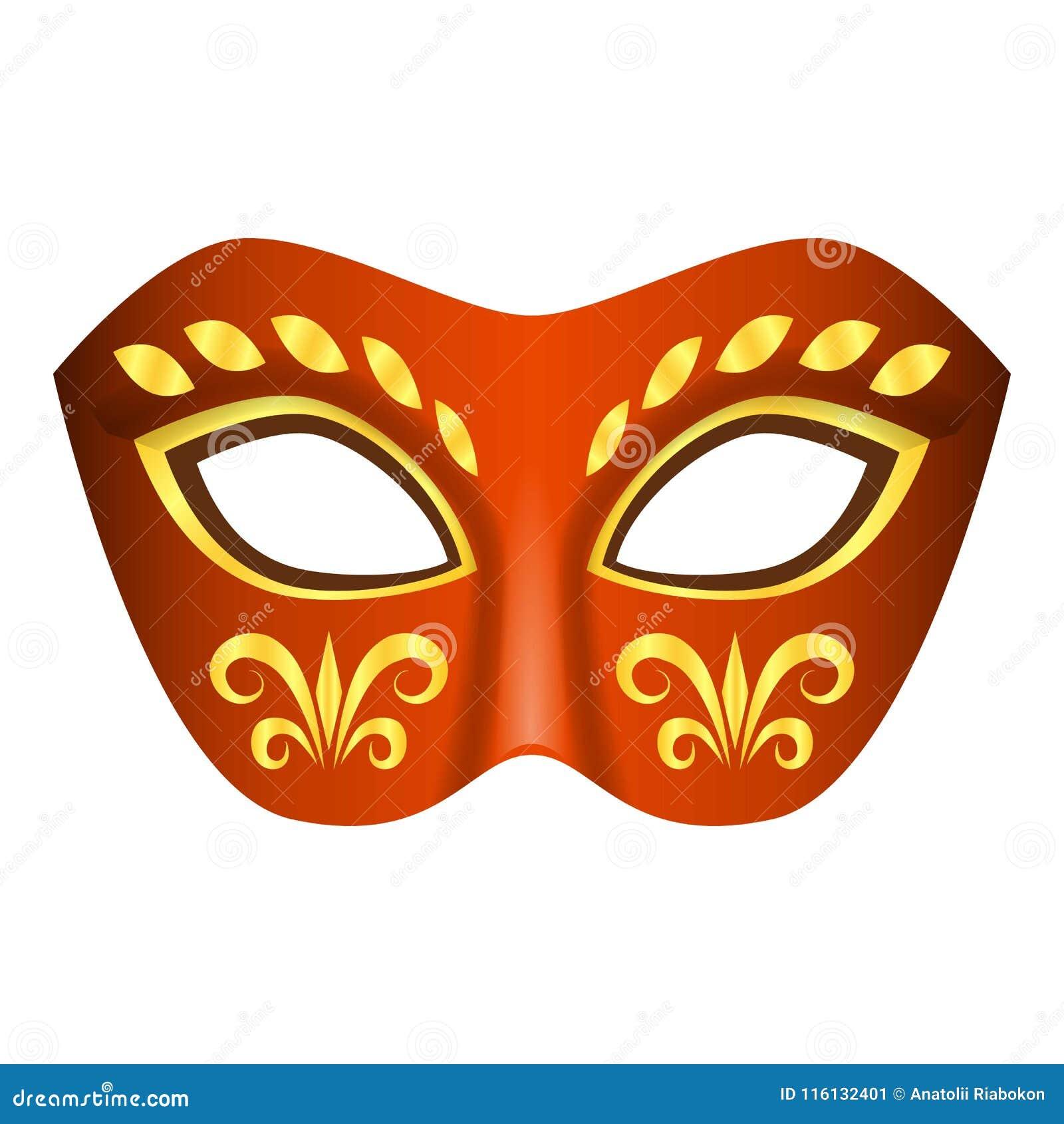 Aborygen maskowa ikona, realistyczny styl
