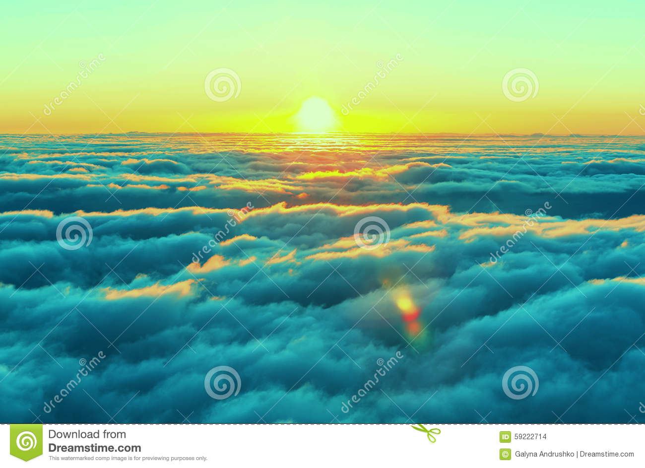 Download Above clouds stock photo. Image of mountain, inspire - 59222714