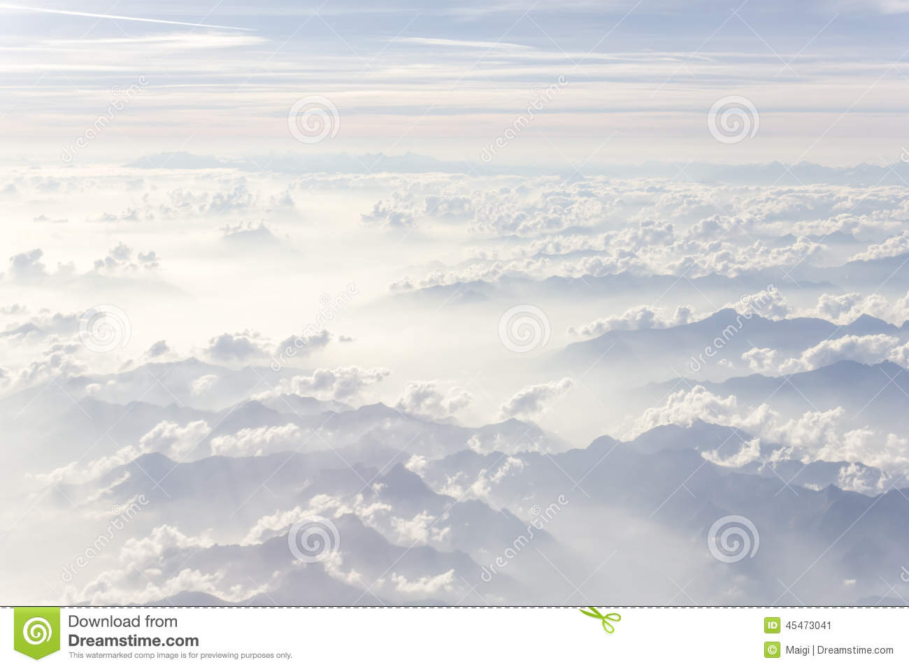 Download Above The Clouds stock image. Image of white, horizon - 45473041