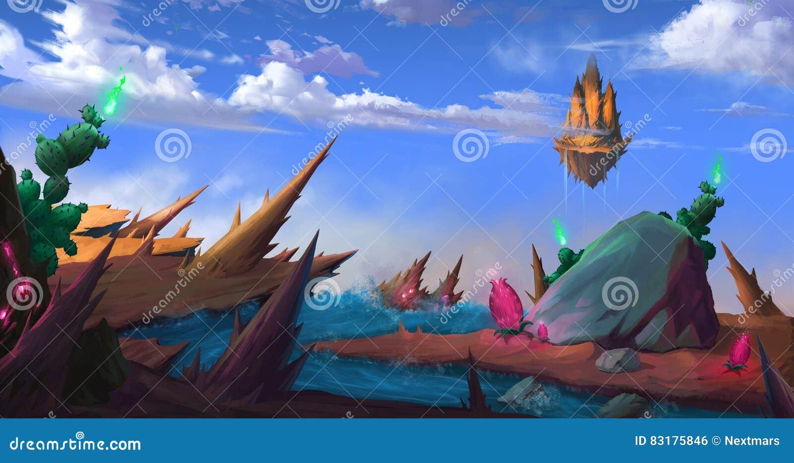 Above The God`s Mountain stock illustration  Illustration of