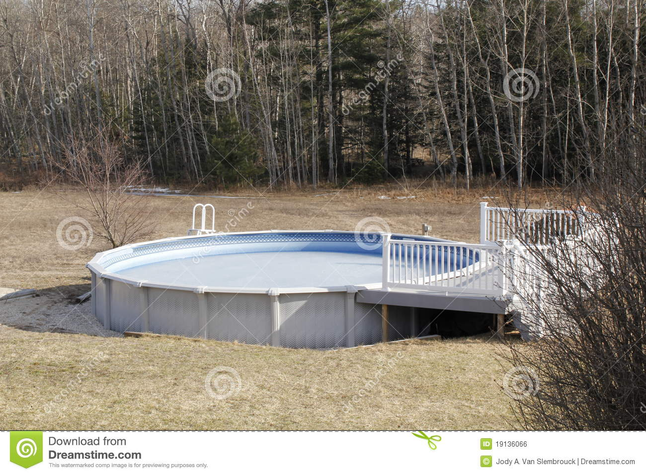 Above ground swimming pool stock photo 14509194 for Above ground swimming pool dealers