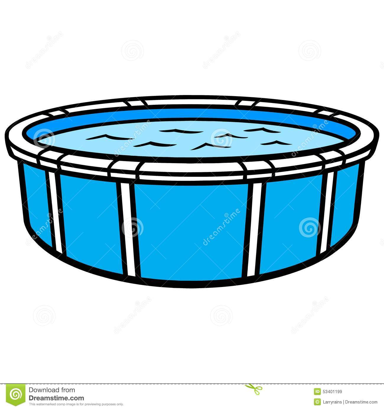 Above ground swimming pool stock vector illustration of for Swiming pool pic