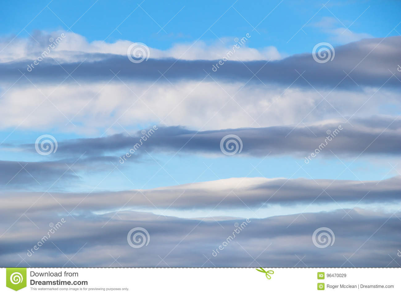 Above layers and blue sky