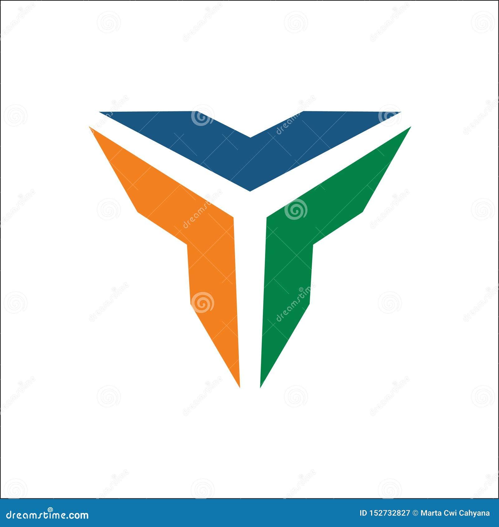Abrégé sur vecteur de logo de triangle