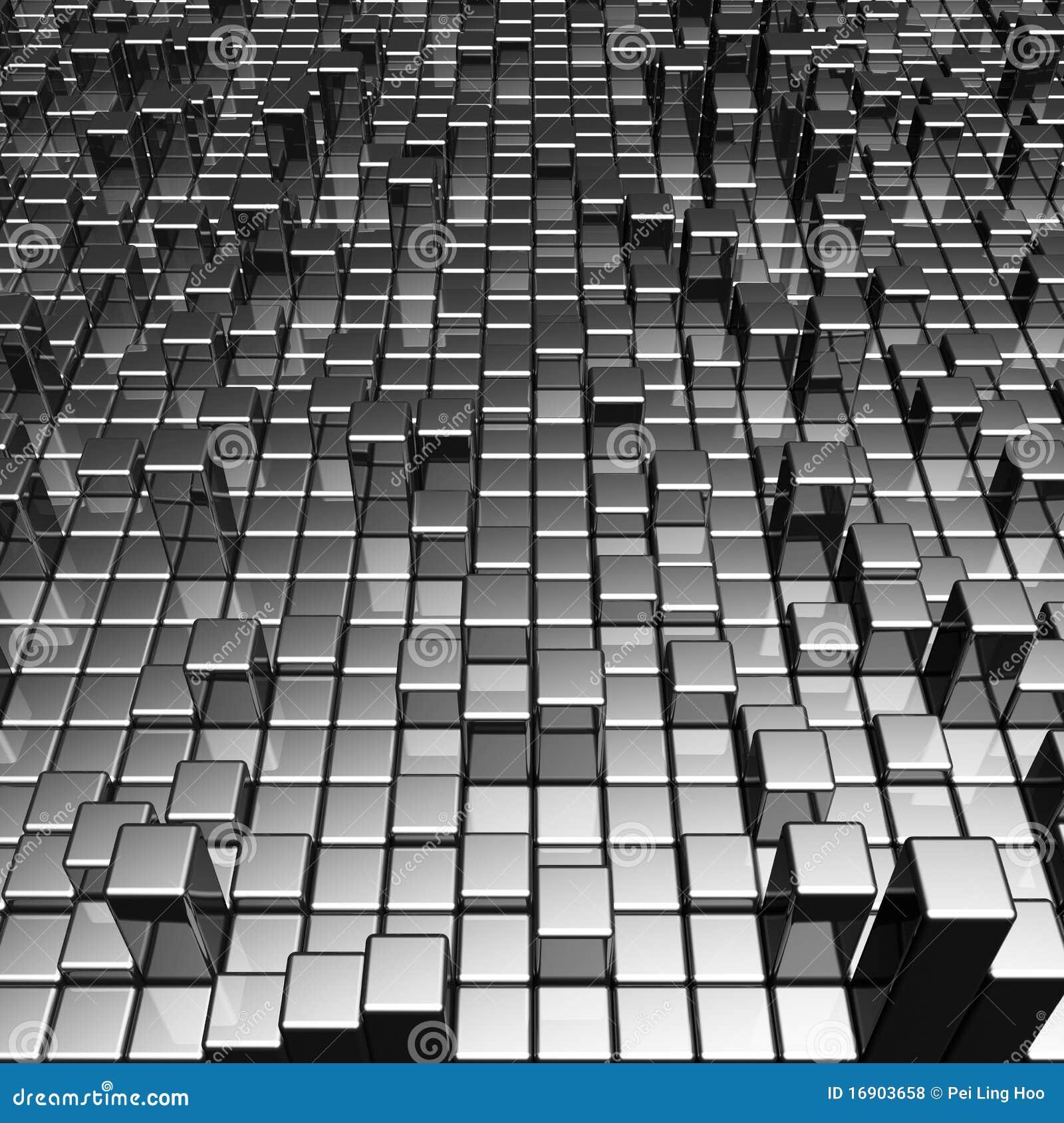 Abrégez le fond dynamique de bloc en métal