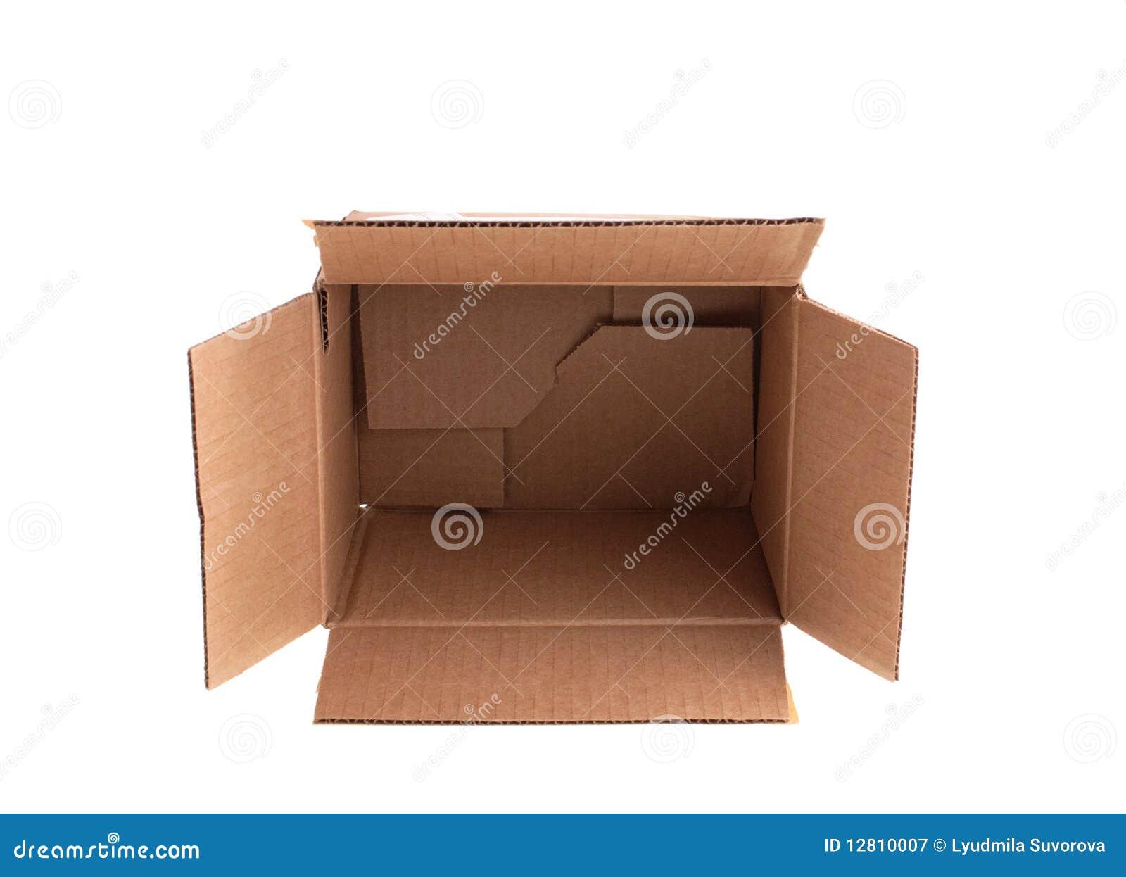 Abra a caixa de cartão