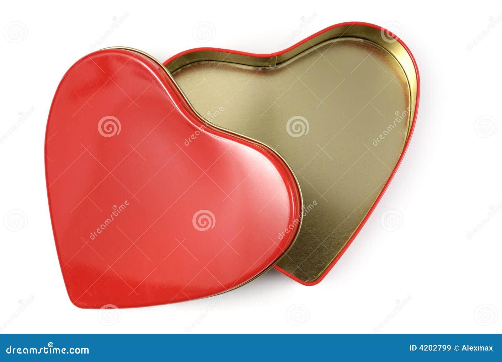 Abra caixa de presente Heart-shaped