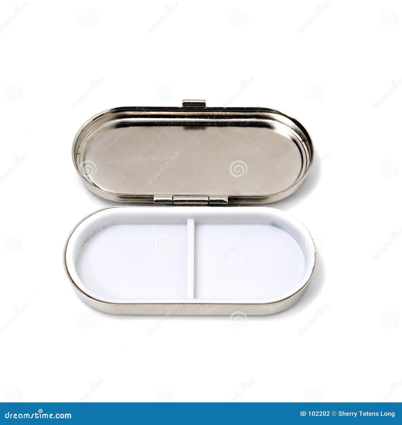 Abra a caixa do comprimido
