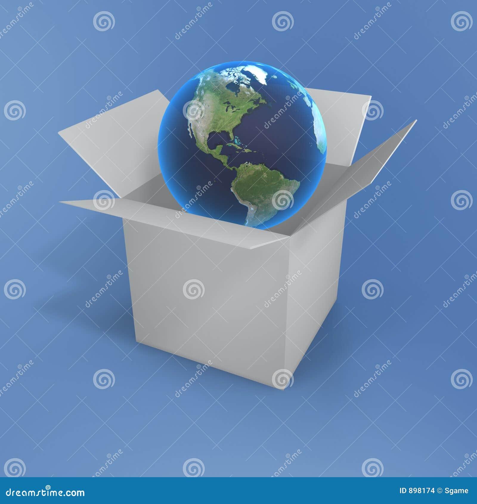 Abra a caixa e o globo