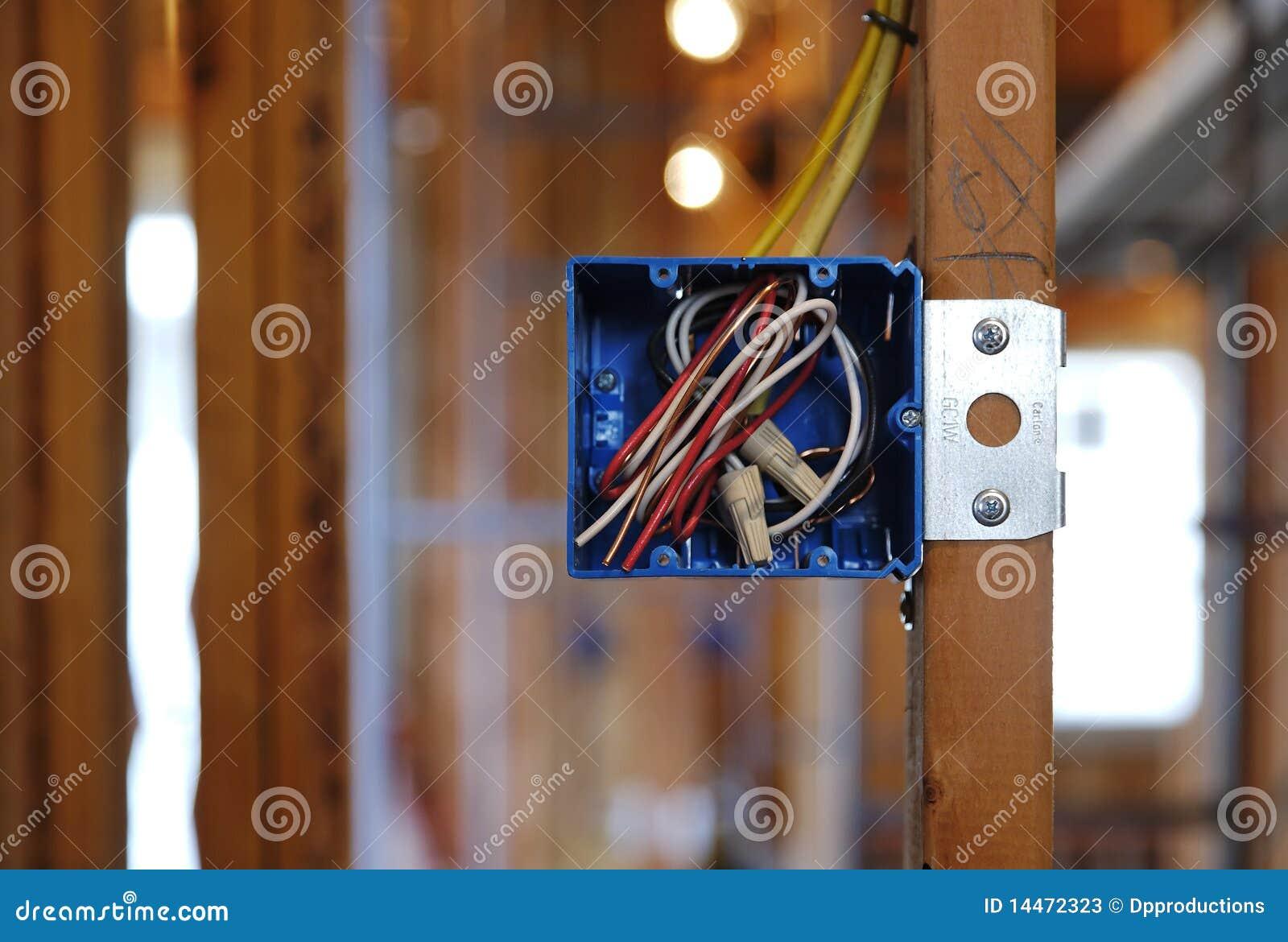 Abra a caixa elétrica em uma HOME sob a construção
