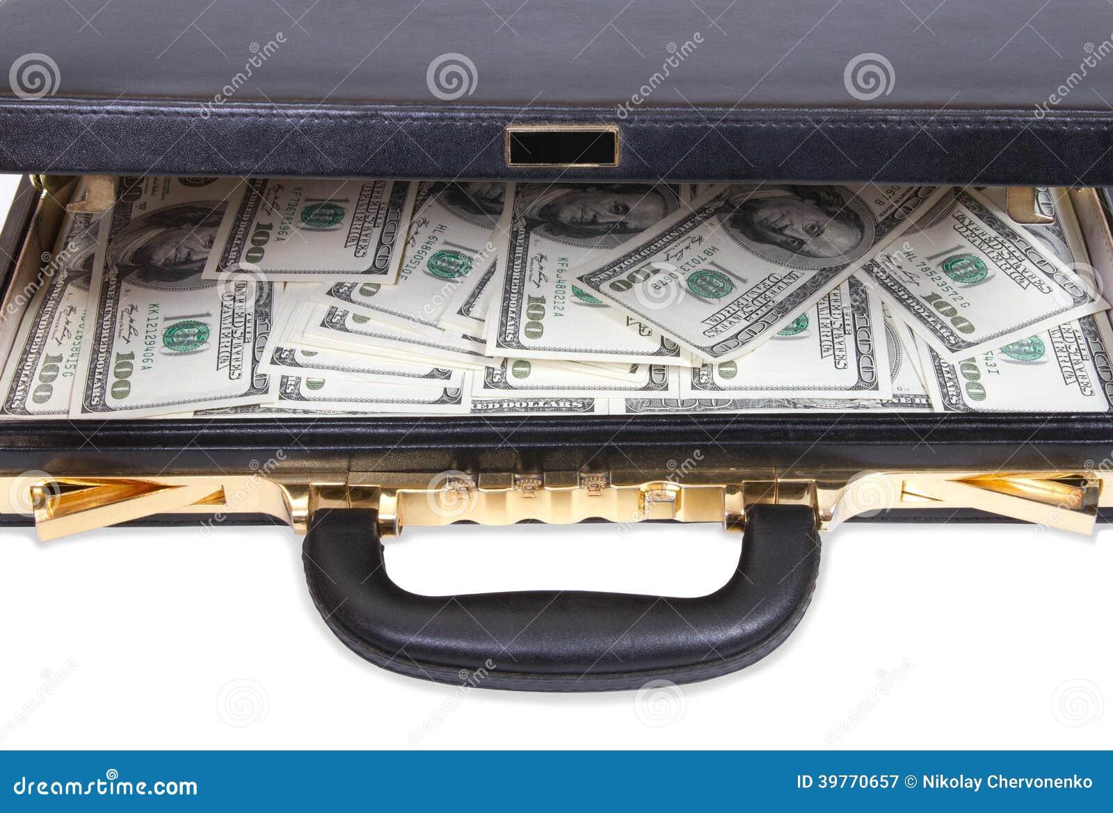 Abra el caso con el dinero