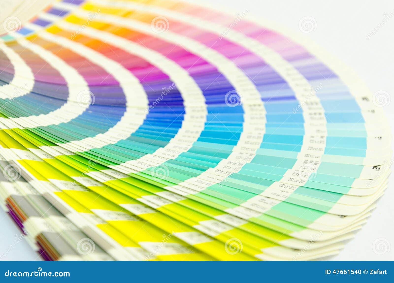 Abra el catálogo de los colores de la muestra