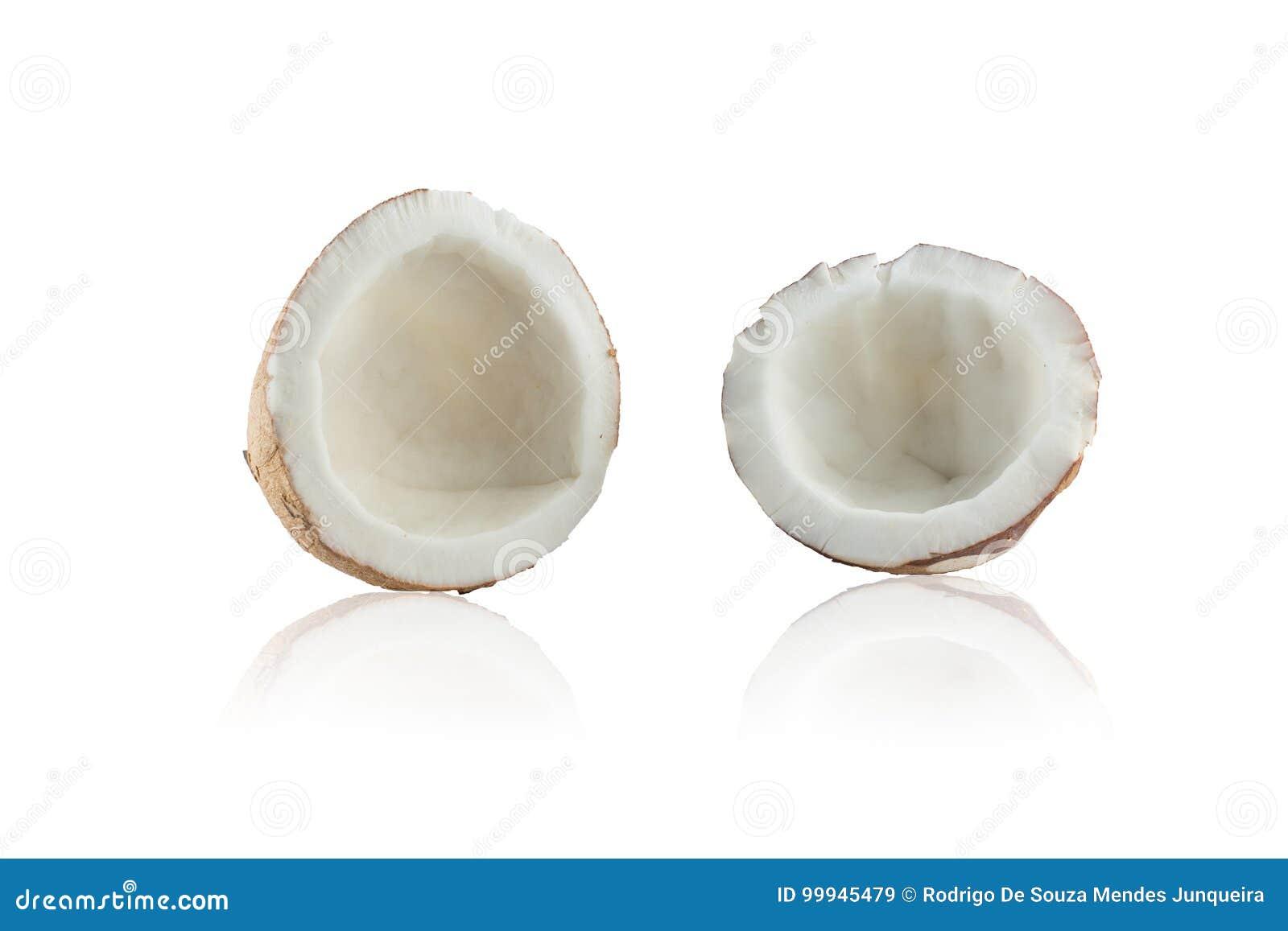 Abra el coco seco