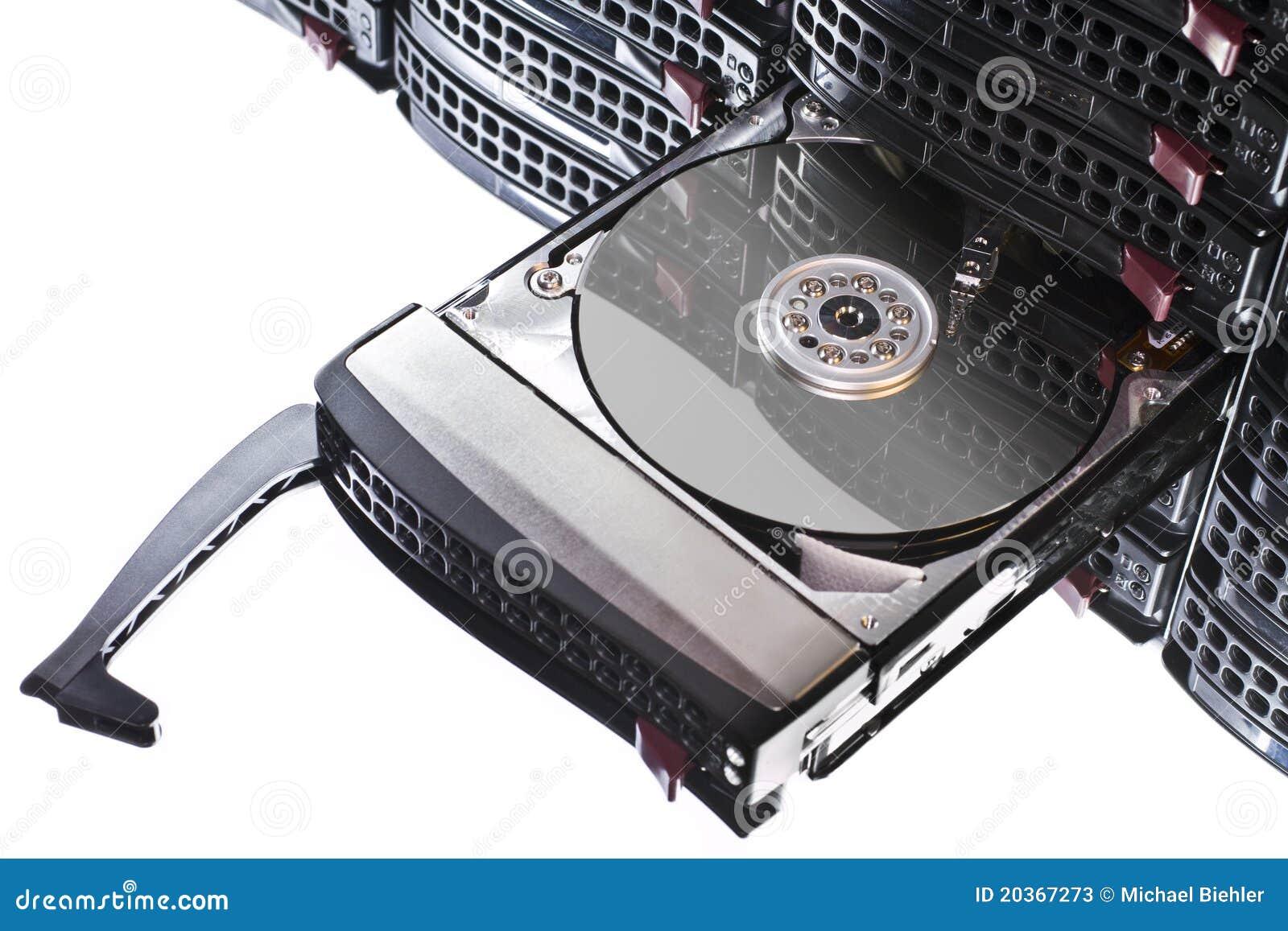 Abra El Disco Duro En Marco Caliente Del Intercambio Imagen de ...