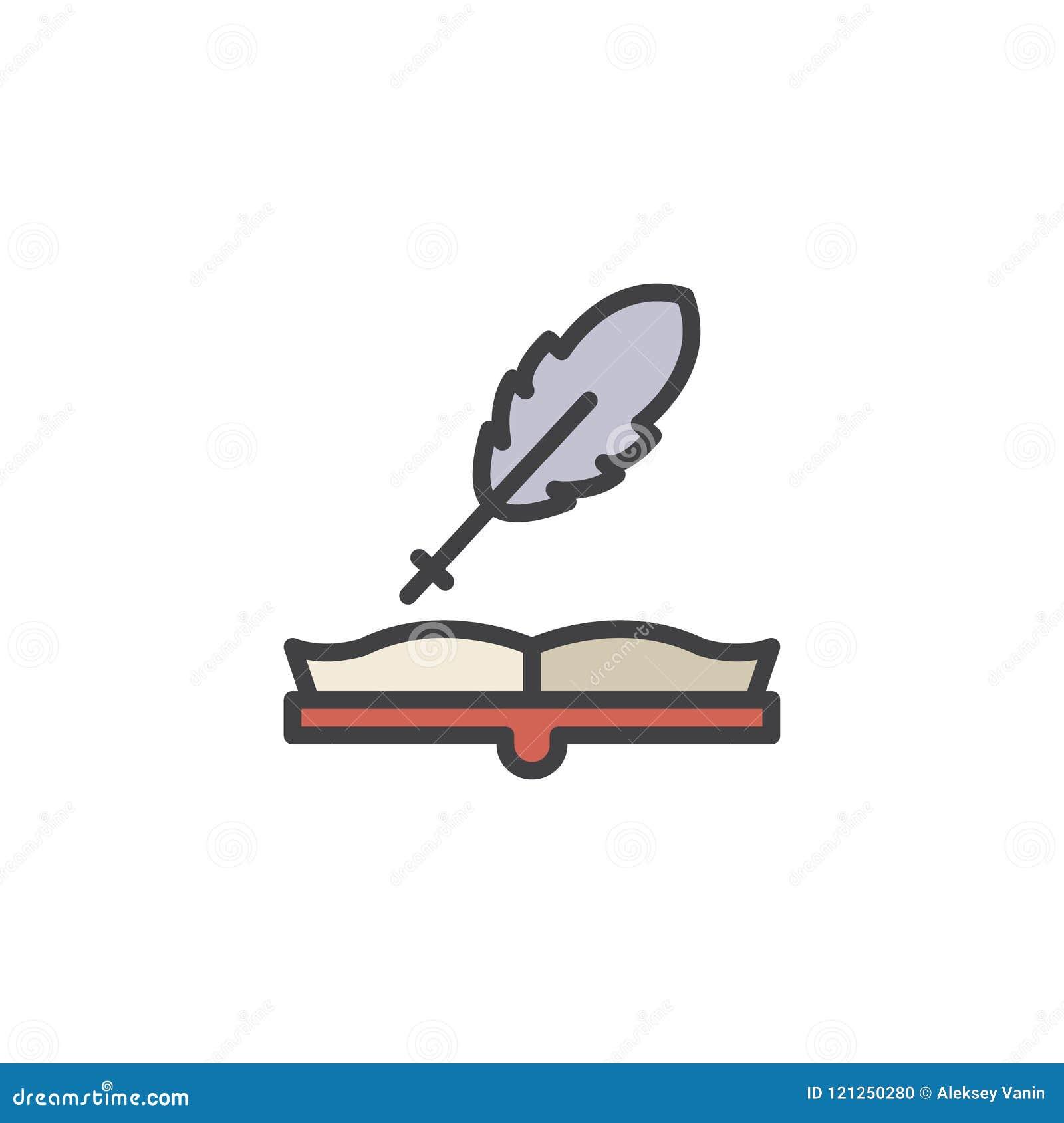 Abra el libro y el icono llenado canilla del esquema
