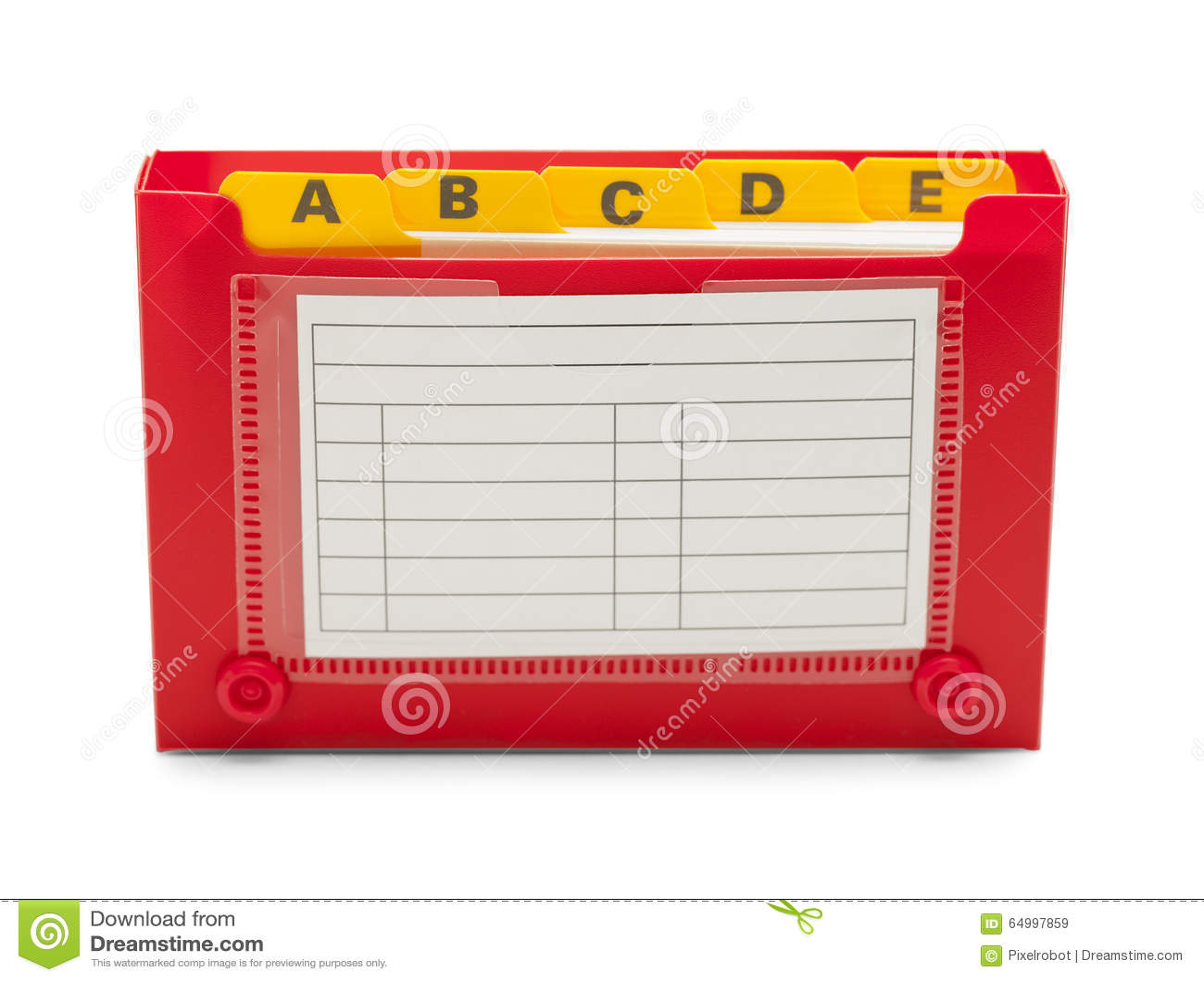 Abra El Portatarjetas De índice Imagen de archivo - Imagen de ...