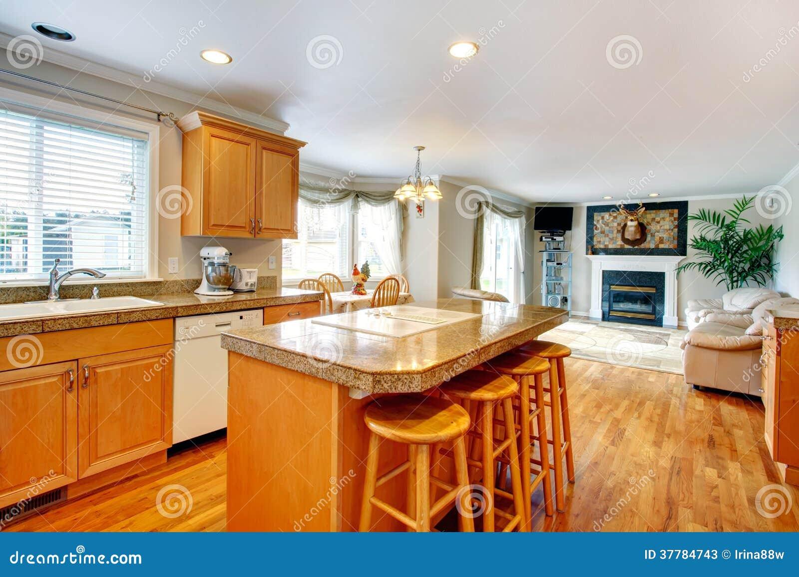 Abra la idea del dise o para vivir y el sitio de la cocina for Comedor cocina de diseno