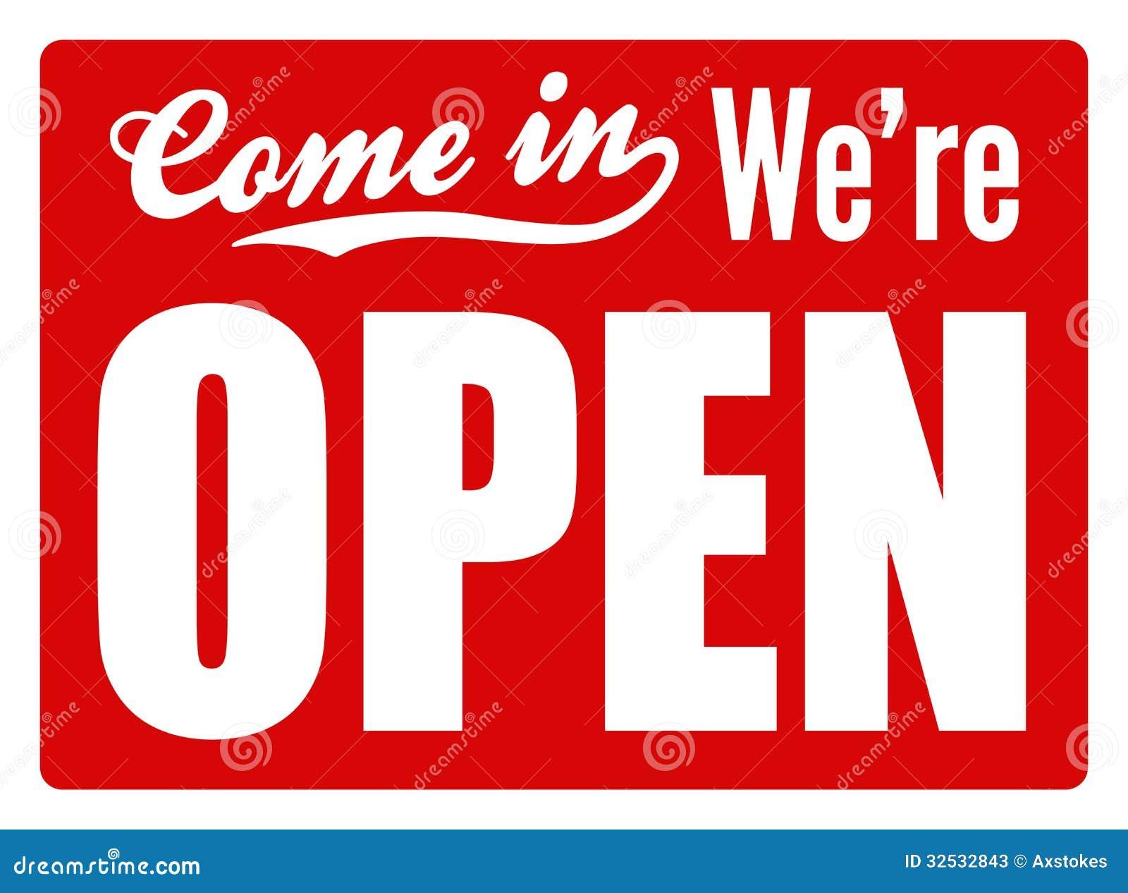 """Típico """"abra"""" la muestra para una tienda, café o compañía para ..."""