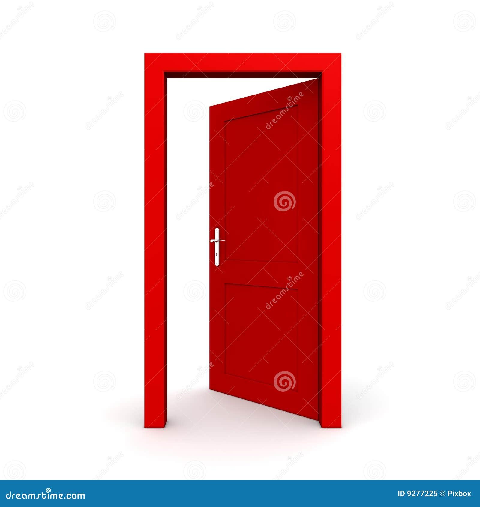 Escoja la puerta roja abierta - marco de puerta solamente  ningunas    Open Door Welcome Mat