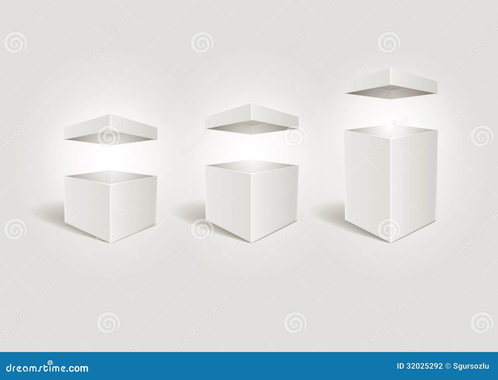 Abra las cajas blancas.