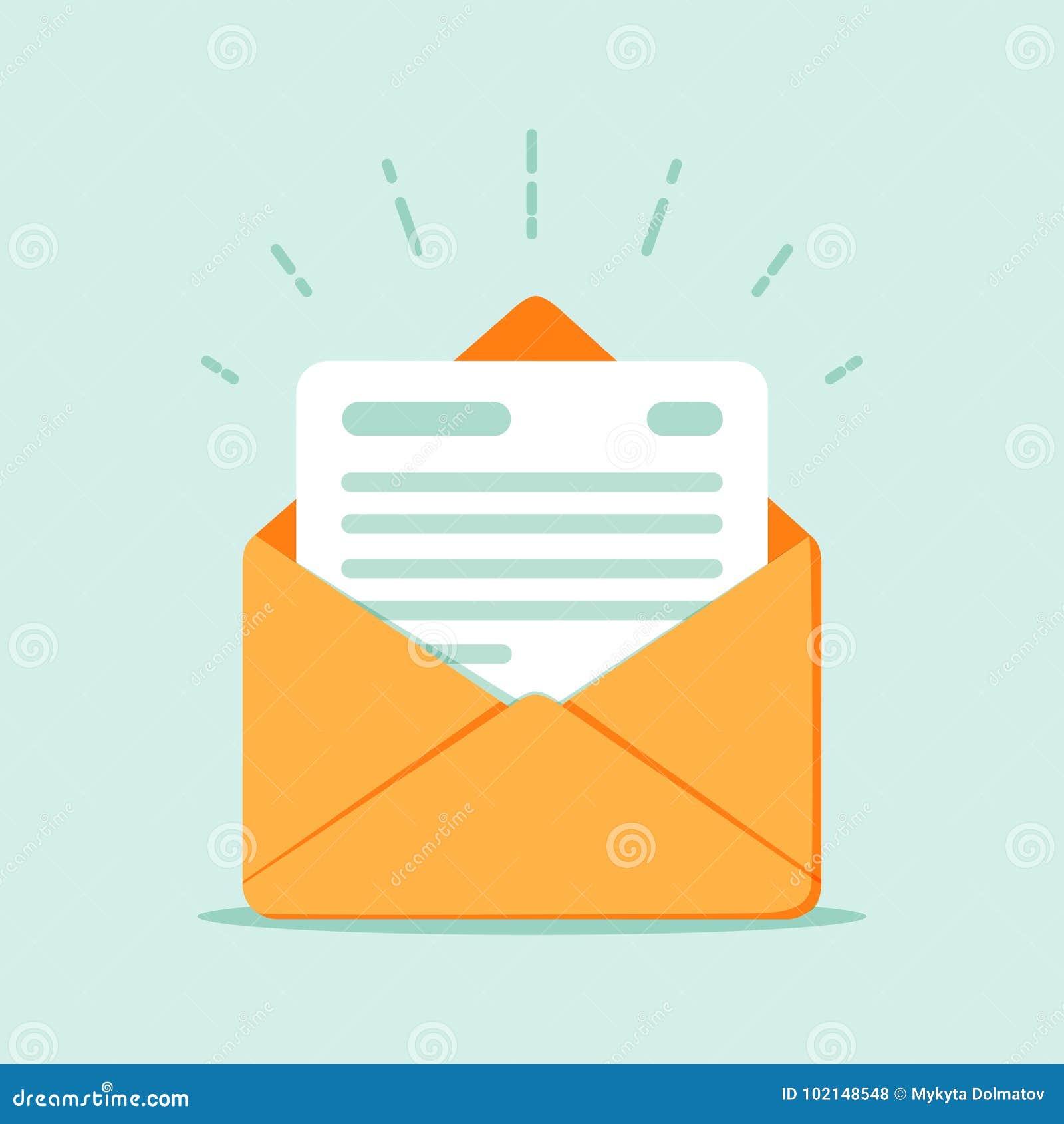 782e6aaa32459d Abra O Envelope Com Um Original Letra Nova Enviando A ...