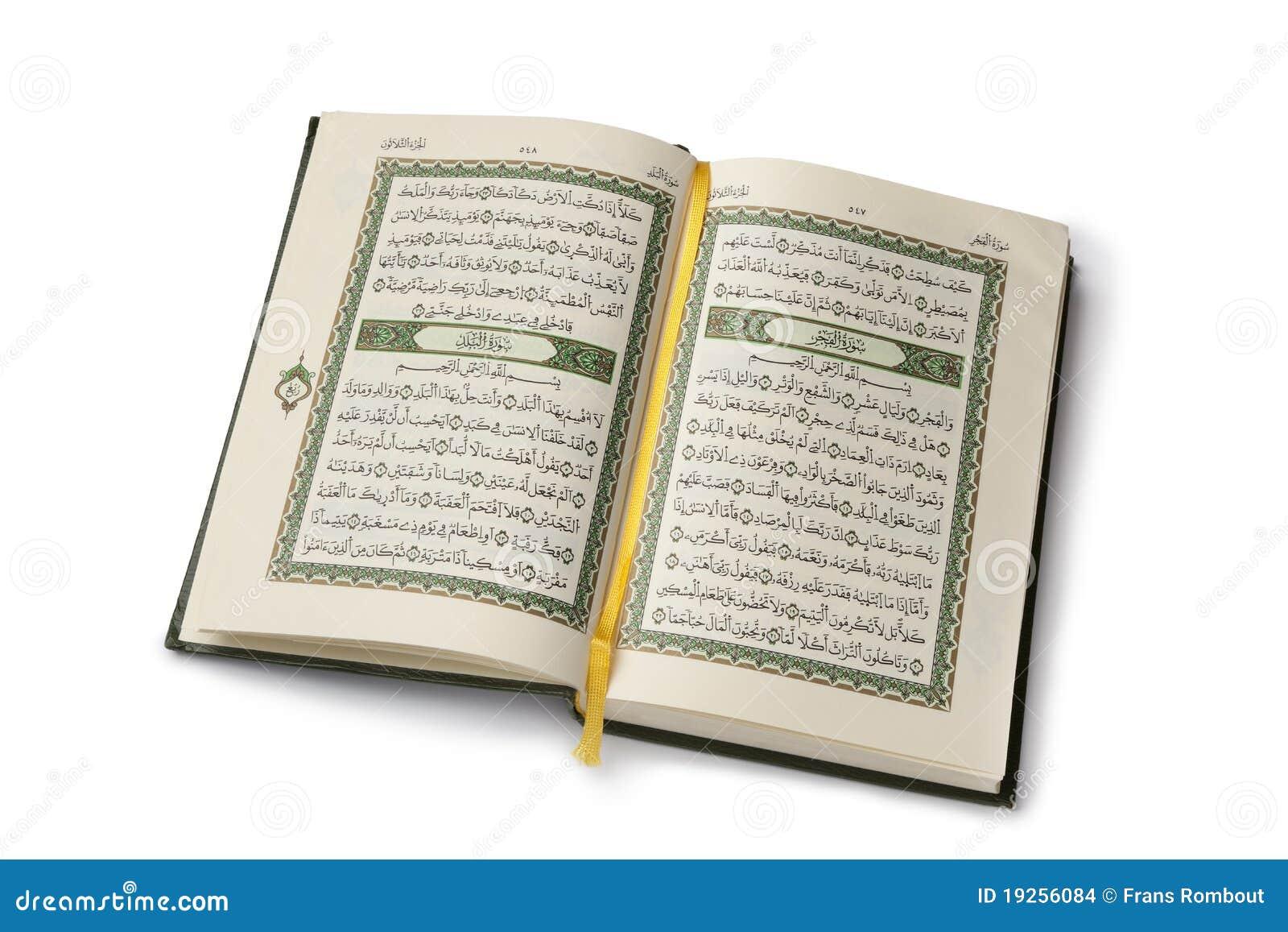 Abra o livro de Koran