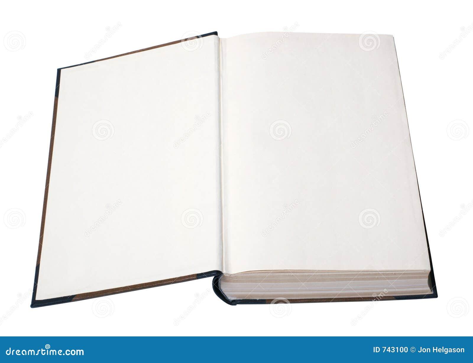 Abra O Livro Em Branco Com Trajeto Foto de Stock - Imagem: 743100