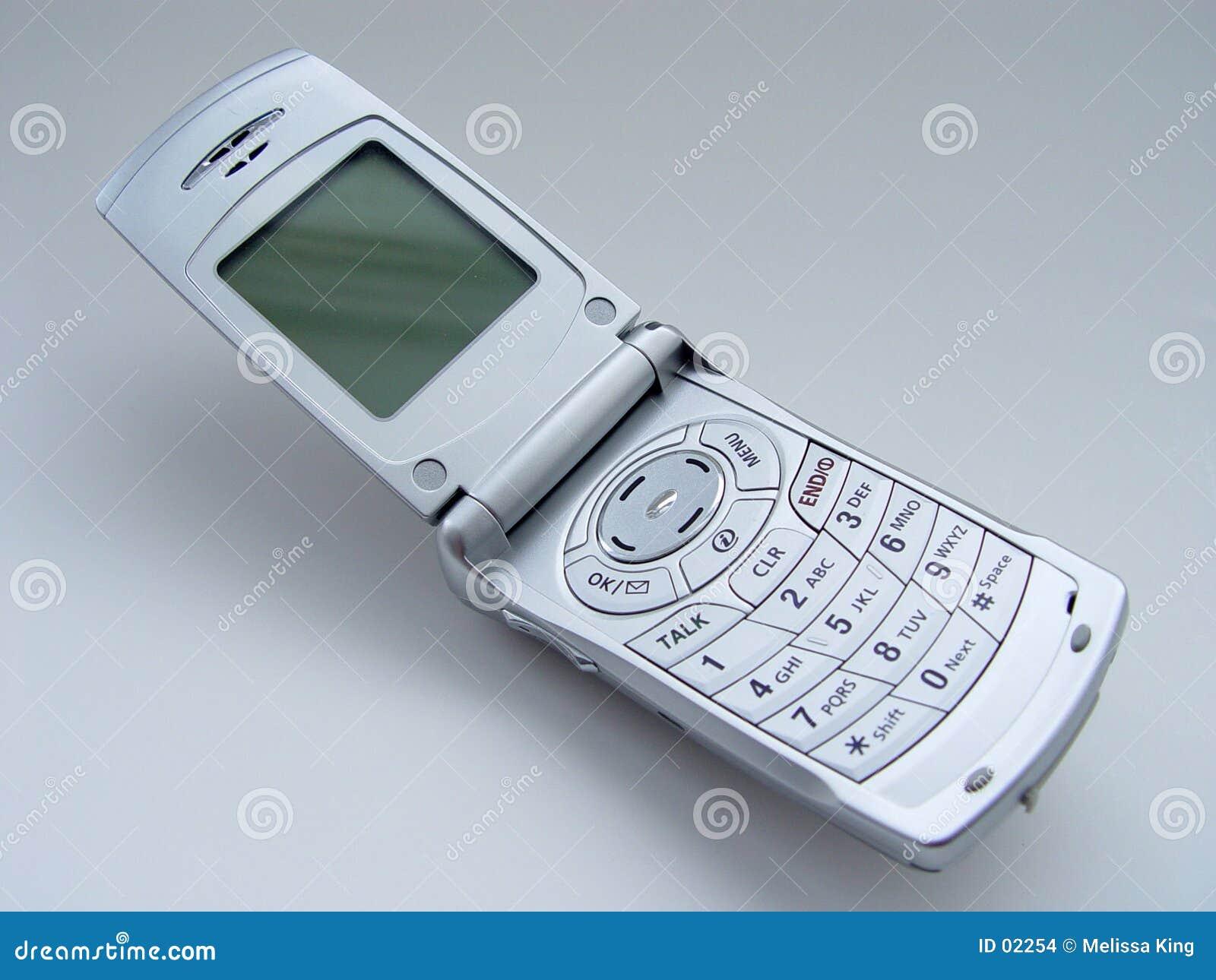 Abra o telefone de pilha
