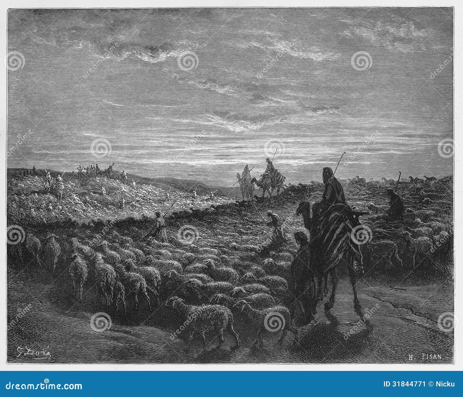 Abraham Journeying in het Land van Canaan