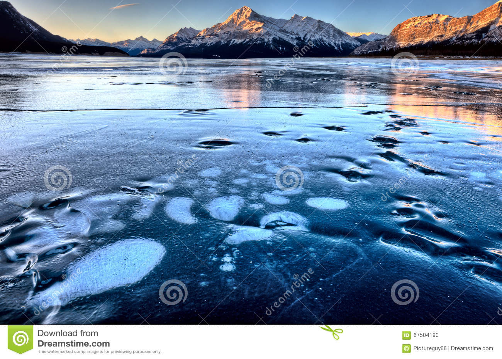 Abraham Lake Winter