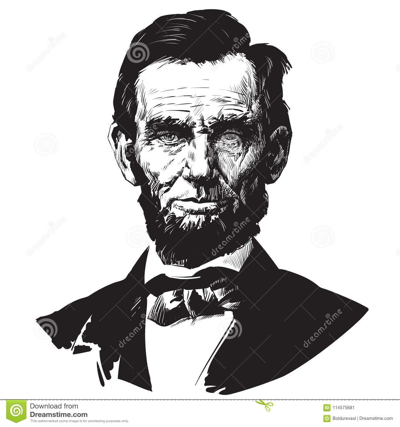 Abraham Lincoln Editorial Photo Illustration Of Past 114575681