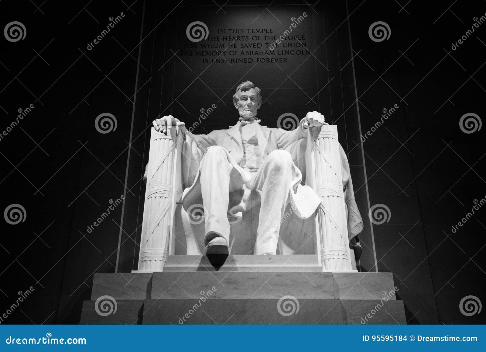 Abraham Lincoln Memorial Bold Black e branco