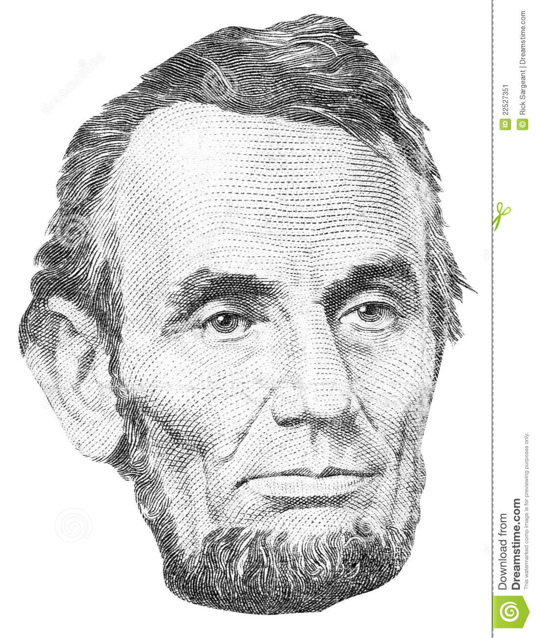 Abraham Lincoln Face Clip Art abraham lincoln portrait stock image ...