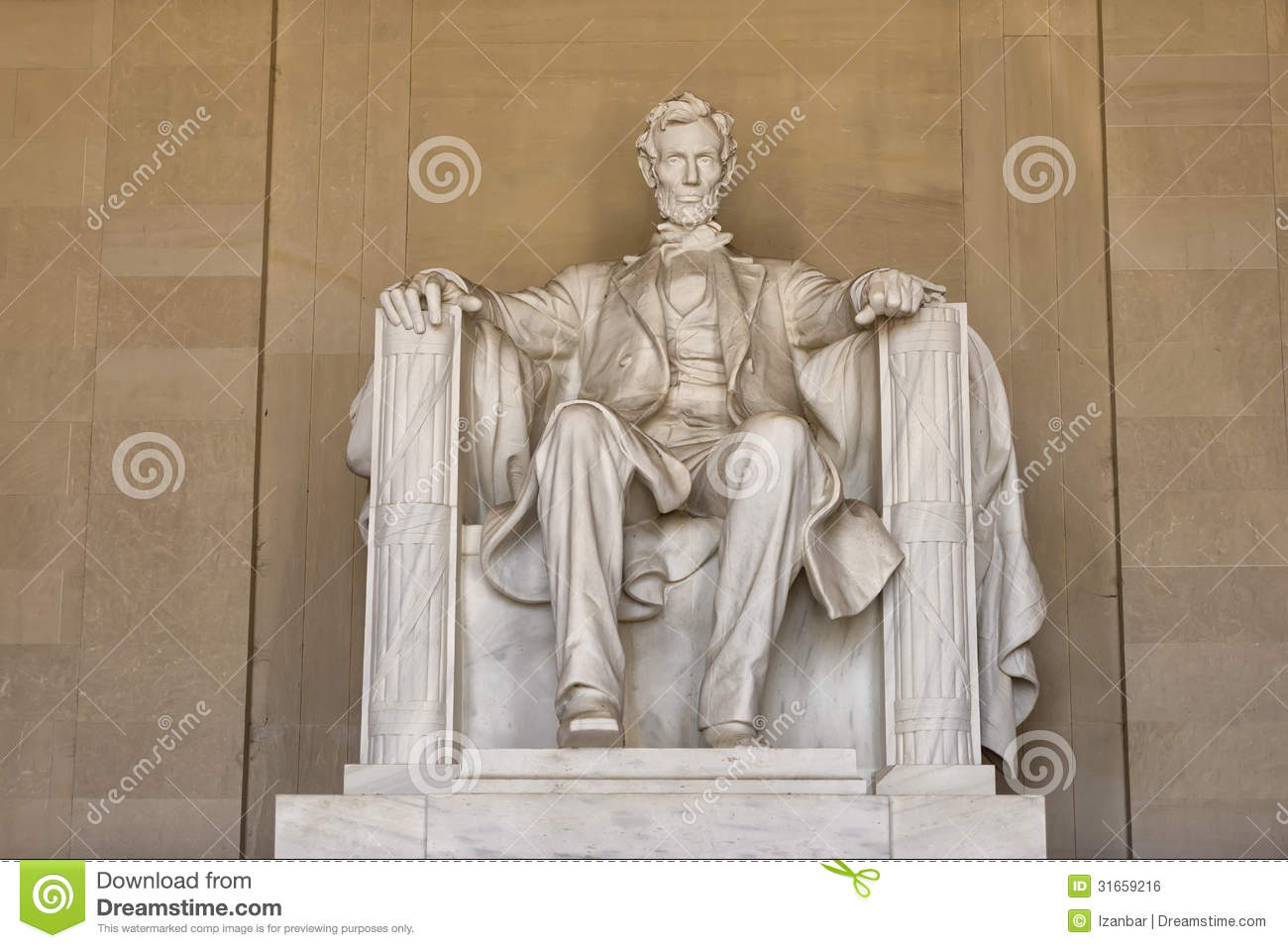 Abraham Lincoln Statue At Washington DC Memorial Royalty Free Stock ...