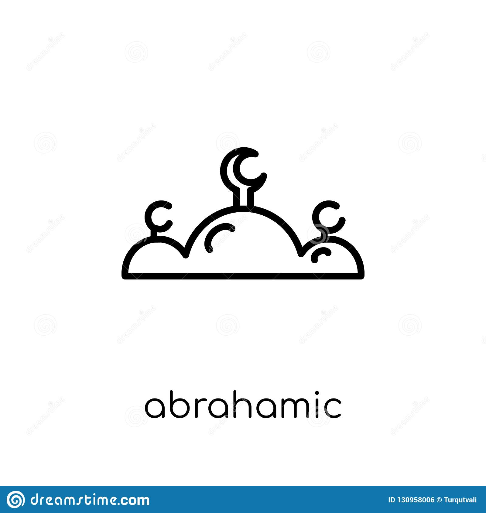 Abrahamic icon. Trendy modern flat linear vector Abrahamic icon
