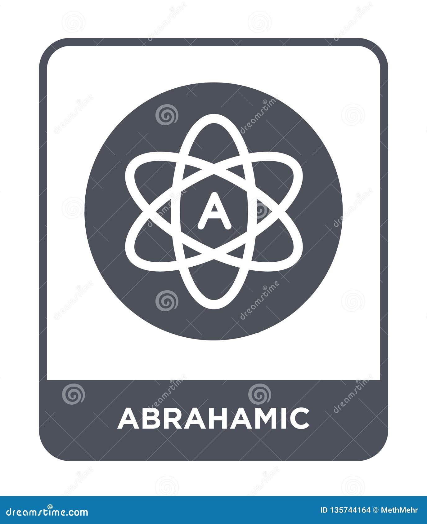 Abrahamic ikona w modnym projekta stylu abrahamic ikona odizolowywająca na białym tle abrahamic wektorowej ikony prosty i nowożyt