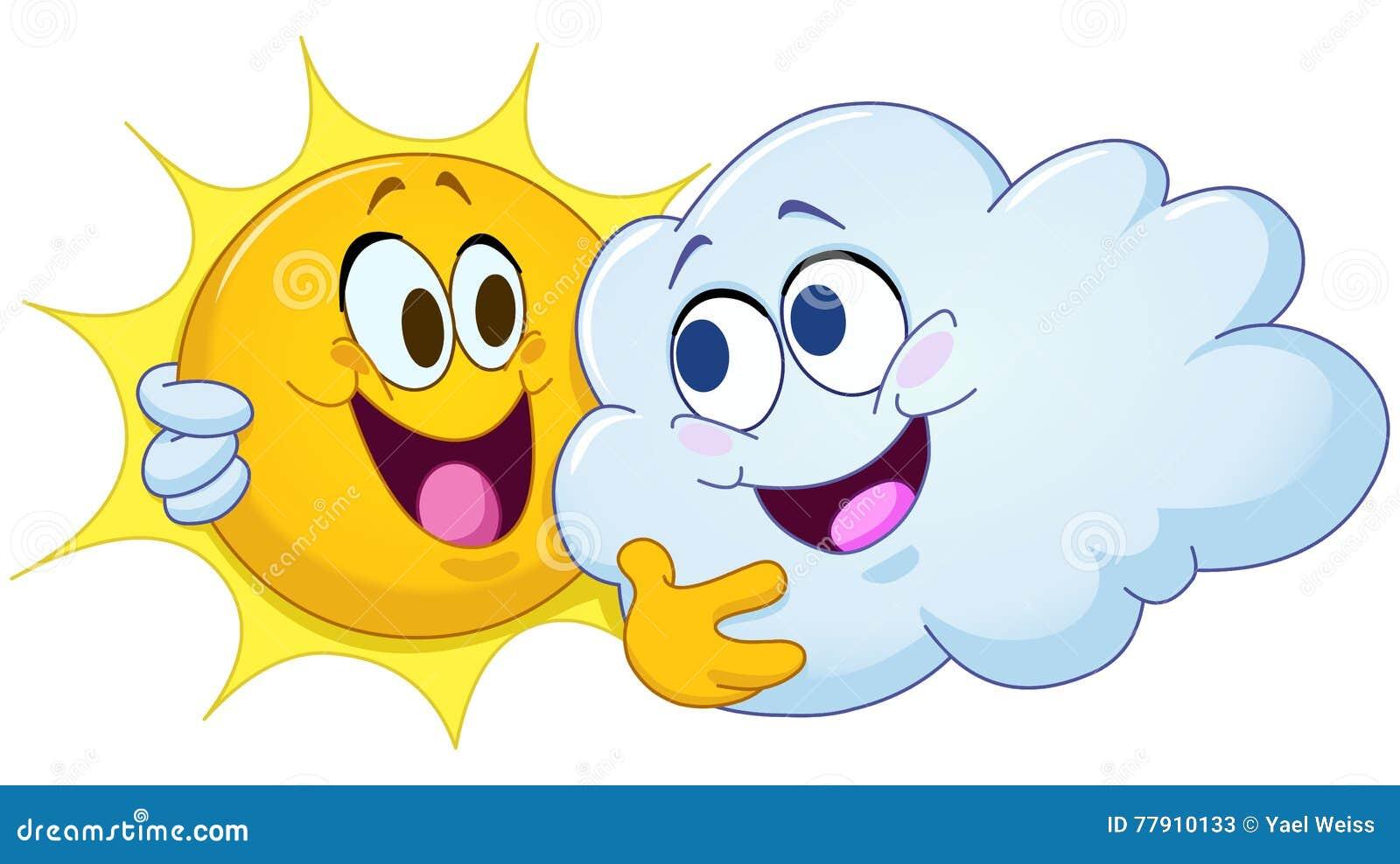 Abrazo del sol y de la nube