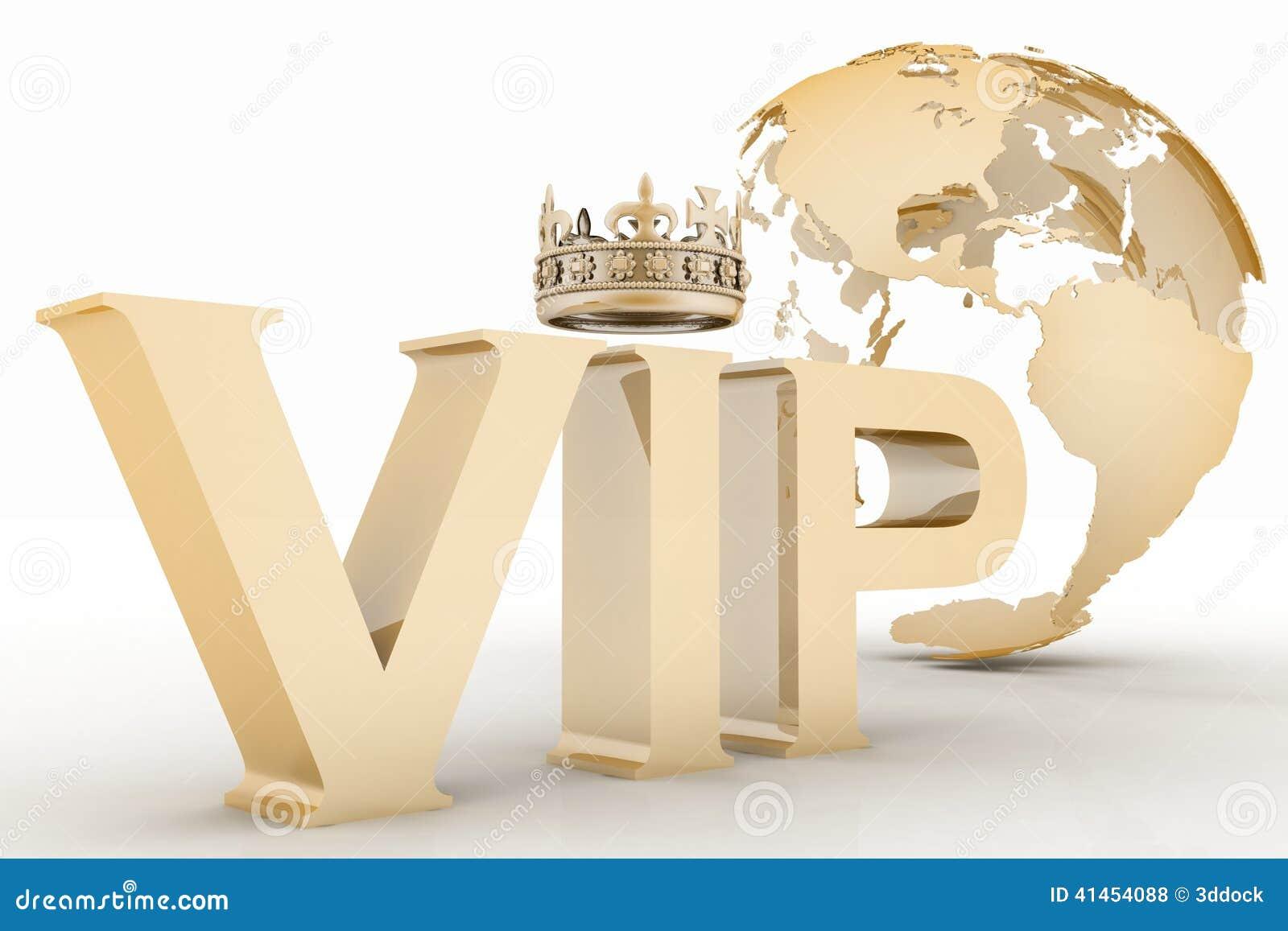 Abreviatura do VIP com uma coroa